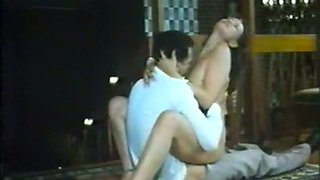 Beautiful pale skin young slut rides on a dick of her partner
