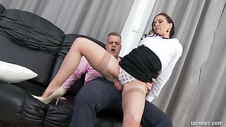 An unforgettable clothed sex with spoiled whore wife Ally Style