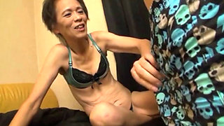 Horny Asian Granny fucked hard