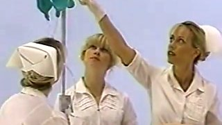 Nurse giving male enema