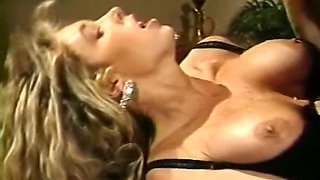 Mesmerizing and lean blondie with big tits eats dick and fucks in doggy style position