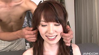Milk skinned Asian honey Ramu Nagatsuki gets her meaty muff eaten