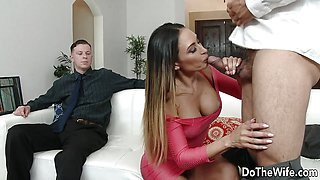 Dude Fucks Wife While Cuck Husband Watches
