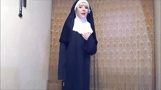 Pervy Nun Punishes You BY Fucking Your Ass w/a Crucifix!