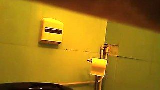 Toilet spy camera catches woman peeing