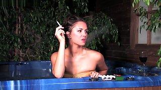 S-M Charlee Lynn Smoking Inside The Pool PT.2