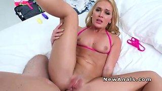 Blonde bikini gf anal part two