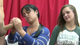 see exciting cfnm scene amateur video 8