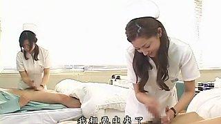 Horny Japanese model in Crazy Handjob, Nurse JAV clip