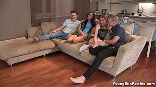 Foursome swinger fuck session