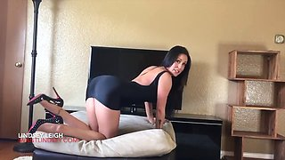 Anal play in high heels