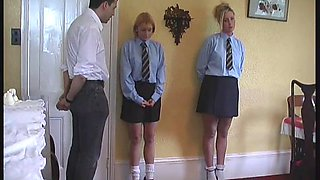 Sexy little British teens get punished by their horny teacher