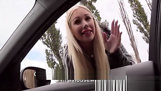 Blonde Euro Housewife Kyra needs a ride