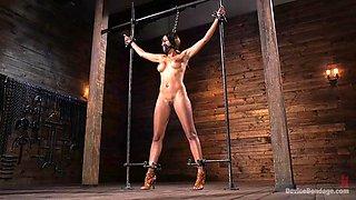 sporty milf sadie santana cums desperately thanks to her brutal master
