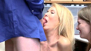 Milf kitchen squirt show for mike and office seduce first