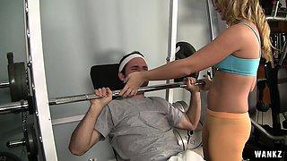 WANKZ- The Sexiest Gym Camel Toe Ever