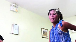 Super thai beauty favors her guy with a oral job