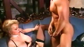 Insatiable blonde milfwith big boobs enjoys anal sex