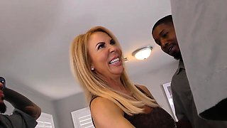 Anal Slut Cougar Erica Lauren Interracial Gangbang