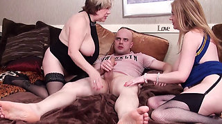 Mature ladies in a hot foursome