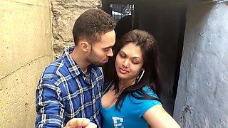 British Indian Couple Kissing
