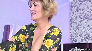 Mature horny whore flashing on webcam show