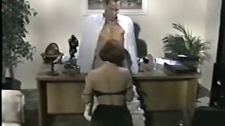 Beautiful and lascivious redhead babe wants to fuck her colleague