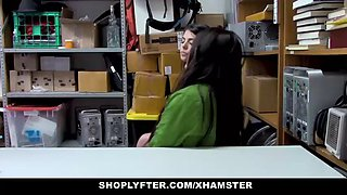 shoplyfter - slutty twin sisters get detained and fucked