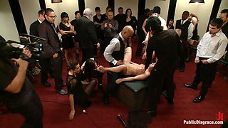 Hot Young Slut Used And Abused In The PublicDisgrace Castle - PublicDisgrace