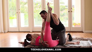 TeensLoveAnal - Sexy Redhead Ass Fucked By Yoga Teacher