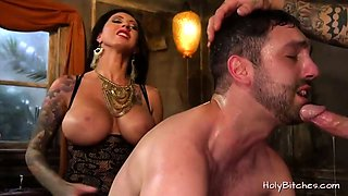 Mistress Lily Lane pegs guy in bi trio