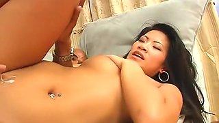 Best pornstar Christina Aguchi in horny cumshots, interracial sex scene