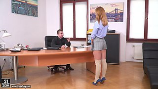 Office sex session with naughty sweetheart Jenny Manson