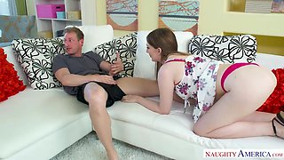 Maya Kendrick eats her friend's bro's dick - Naughty America