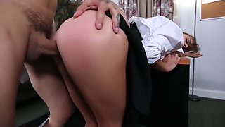 New secretary Dakota Vixin gets punished