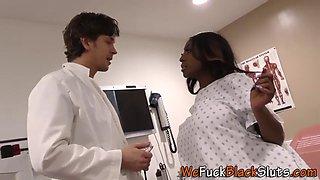 Pregnant black ho screwed