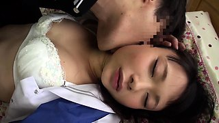 Sleeping Oriental teen gets drilled deep by a horny guy