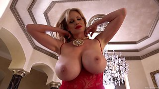 Kelly Madison wears sexy lingerie while being shagged hard