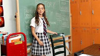 Sexy schoolgirl fucked in the classroom