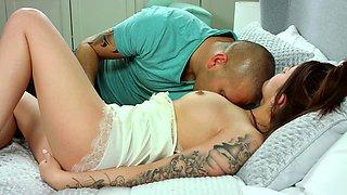 Virgin girl Olivia loses virginity with big guy